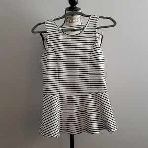 Cute Peplum Stripe Tank Top
